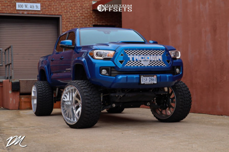 """2018 Toyota Tacoma - 26x16 -101mm - American Force Octane Ss - Suspension Lift 10"""" - 35"""" x 15.5"""""""