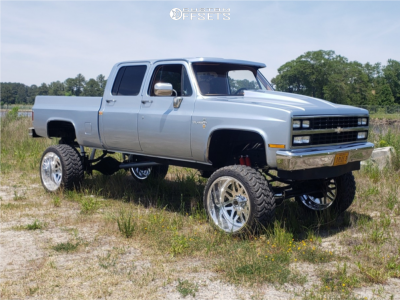 """1990 Chevrolet K3500 - 24x14 -73mm - American Force Fallout Fp - Suspension Lift 8"""" - 35"""" x 13.5"""""""