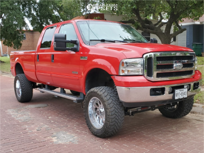 """2006 Ford F-350 Super Duty - 20x10 -19mm - Xtreme Force Xf8 - Suspension Lift 4.5"""" - 35"""" x 12.5"""""""