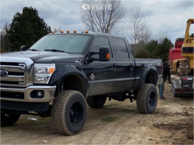 """2016 Ford F-350 Super Duty - 20x12 -44mm - Fuel Hostage D531 - Suspension Lift 8"""" - 38"""" x 13.5"""""""