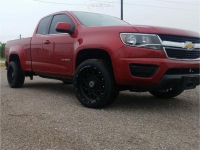2015 Chevrolet Colorado - 20x10 -18mm - Anthem Off-Road Avenger - Stock Suspension - 275/40R20