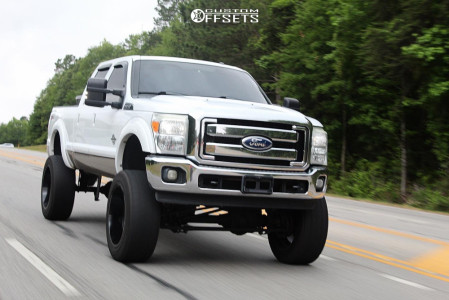"2011 Ford F-250 Super Duty - 24x12 -44mm - Fuel Sledge - Suspension Lift 9.5"" - 38"" x 13.5"""