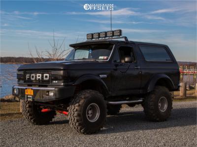 "1991 Ford Bronco - 15x10 -43mm - American Racing Baja - Suspension Lift 9"" - 39"" x 15.5"""
