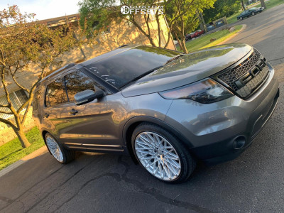 2011 Ford Explorer - 22x10.5 40mm - Rosso Skism - Lowering Springs - 265/40R22