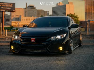2017 Honda Civic - 18x9 12mm - Kansei Tandem - Air Suspension - 215/40R18