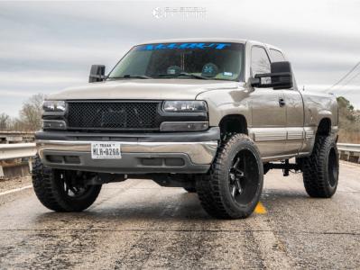 "2002 Chevrolet Silverado 1500 - 22x12 -57mm - Vision Spyder - Suspension Lift 6"" - 33"" x 12.5"""
