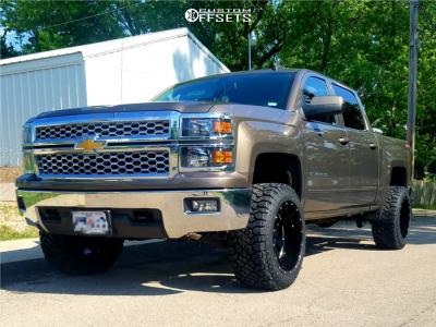 """2015 Chevrolet Silverado 1500 - 20x12 -44mm - Moto Metal Mo962 - Body Lift 3"""" - 33"""" x 12.5"""""""