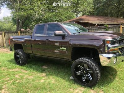 "2016 Chevrolet 1500 - 24x12 -51mm - Vision Razor - Suspension Lift 6"" - 35"" x 12.5"""