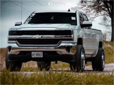2019 Chevrolet Silverado 1500 LD - 20x12 -44mm - Fuel Triton - Leveling Kit - 305/50R20