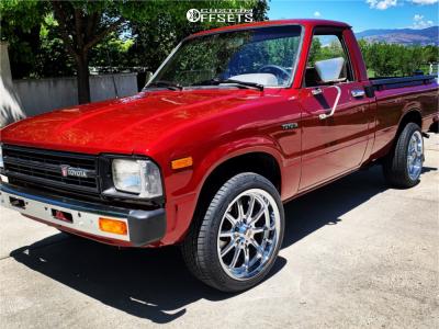 1982 Toyota Pickup - 17x8 0mm - Rev Classic 110 - Stock Suspension - 255/45R17