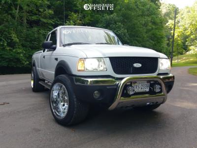 2003 Ford Ranger - 20x12 -44mm - TIS 544c - Stock Suspension - 285/50R20