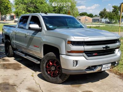 """2018 Chevrolet Silverado 1500 - 18x8.5 0mm - Vision Fury - Leveling Kit - 33"""" x 12.5"""""""