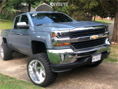 """2016 Chevrolet 1500 - 22x14 -73mm - American Force Spade Ss - Suspension Lift 7"""" - 33"""" x 14.5"""""""