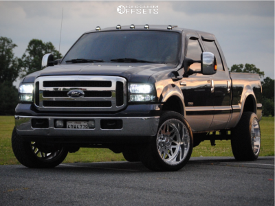 2005 Ford F-350 Super Duty - 22x12 -44mm - American Force Flux Ss - Stock Suspension - 305/40R22
