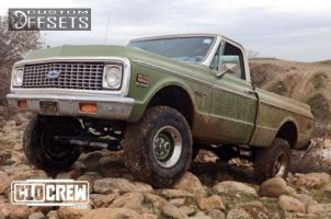 "1972 Chevrolet K10 - 15x10.5 10.5mm - GM Rally - Suspension Lift 4"" - 33"" x 10.5"""