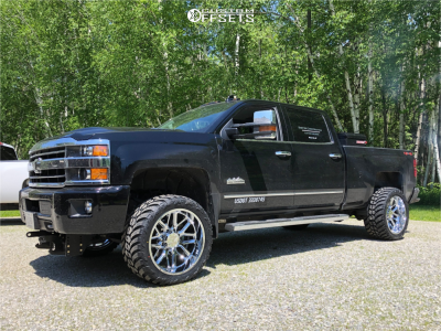 "2019 Chevrolet Silverado 3500 HD - 22x12 -44mm - Hostile Vulcan - Stock Suspension - 33"" x 12.5"""