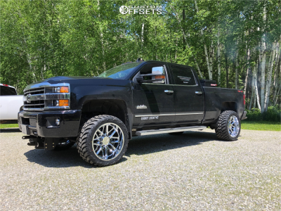"2019 Chevrolet Silverado 3500 HD - 22x12 -44mm - Hostile Vulcan - Stock Suspension - 33"" x 14.5"""