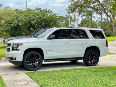 2016 Chevrolet Tahoe - 22x9 24mm - Factory Reproductions Fr72 - Leveling Kit - 305/45R22