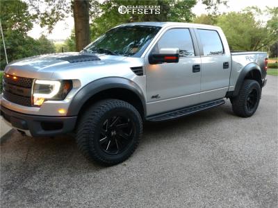 "2012 Ford Raptor - 20x10 -25mm - ARKON OFF-ROAD Lincoln - Stock Suspension - 35"" x 12.5"""