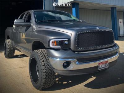 "2002 Dodge Ram 1500 - 20x12 -51mm - Vision Rocker - Leveling Kit - 33"" x 12.5"""