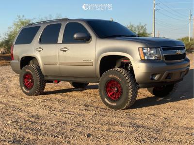 "2007 Chevrolet Tahoe - 18x9 -12mm - Fuel Covert - Suspension Lift 7.5"" - 35"" x 12.5"""