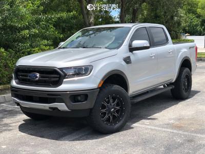 2019 Ford Ranger - 18x9 18mm - Moto Metal Mo970 - Leveling Kit - 285/60R18