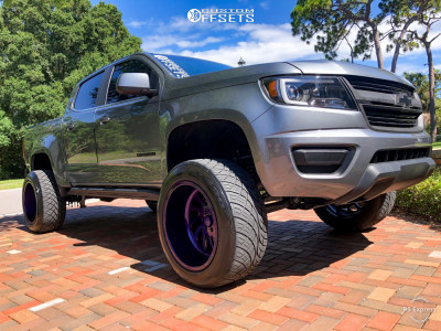 """2018 Chevrolet Colorado - 20x12 -44mm - Specialty Forged Sf007 - Suspension Lift 6"""" - 305/50R20"""