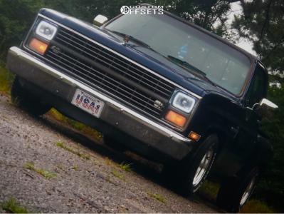1985 Chevrolet C10 - 15x10 -44mm - American Racing Vintage Classic Torq Thrust Ii - Lowered 3F / 5R - 275/60R15