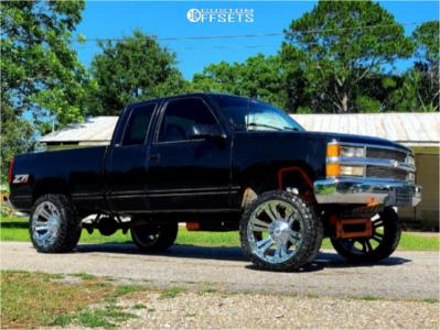 """1996 Chevrolet K1500 - 22x10 -12mm - XD Monster - Suspension Lift 6.5"""" - 33"""" x 12.5"""""""