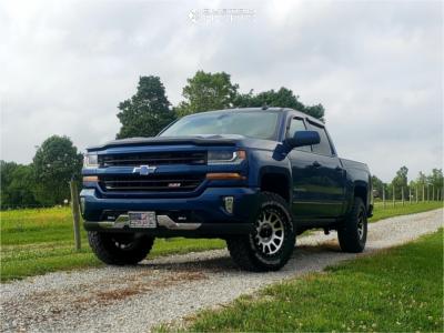 "2016 Chevrolet 1500 - 18x9 -12mm - Method Mr305 - Suspension Lift 2.5"" - 275/70R18"