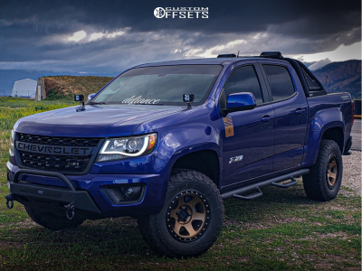 """2016 Chevrolet Colorado - 17x8.5 0mm - Method Con6 - Suspension Lift 3"""" - 265/70R17"""