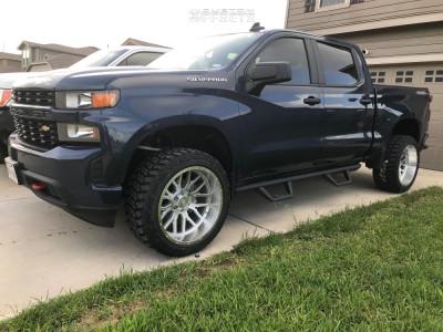 "2019 Chevrolet Silverado 1500 - 22x12 -44mm - Axe Offroad Ax6.1 - Suspension Lift 3.5"" - 33"" x 12.5"""