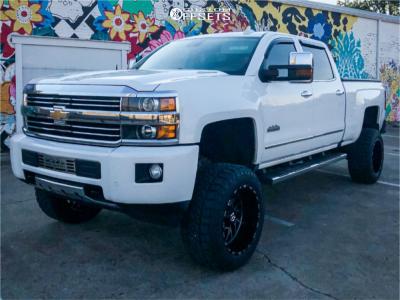 """2016 Chevrolet Silverado 2500 HD - 20x12 -44mm - TIS 544mb - Suspension Lift 5"""" - 305/55R20"""
