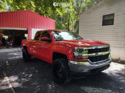 "2019 Chevrolet Silverado 1500 LD - 20x12 -44mm - Hardrock Crusher H704 - Suspension Lift 2.5"" - 33"" x 12.5"""