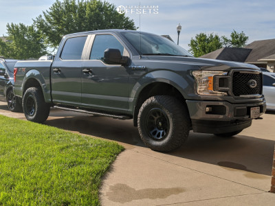 2019 Ford F-150 - 17x9 -12mm - Fuel Vector - Leveling Kit - 285/70R17