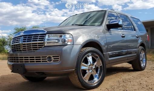 2011 Lincoln Navigator - 22x9.5 35mm - 2Crave Nx-2 - Stock Suspension - 305/45R22