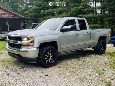 "2018 Chevrolet Silverado 1500 - 20x10 -24mm - Gear Off-Road Big Block - Leveling Kit - 33"" x 12.5"""