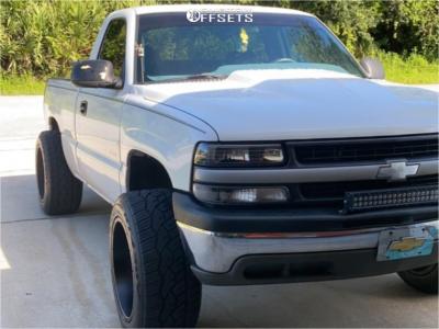 2000 Chevrolet Silverado 1500 - 20x12 -57mm - Vision Spyder - Stock Suspension - 315/45R20