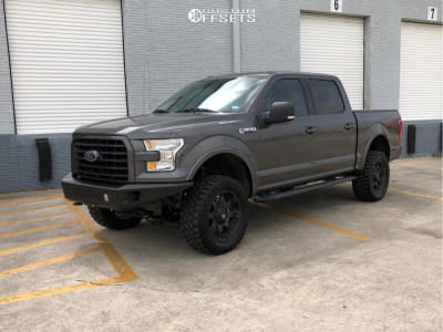 """2017 Ford F-150 - 20x9 1mm - Fuel Octane - Suspension Lift 4"""" - 305/55R20"""