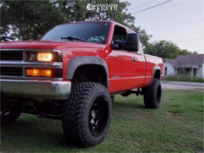 "1998 Chevrolet K2500 - 20x12 -44mm - Hostile Rage - Suspension Lift 6"" - 35"" x 12.5"""