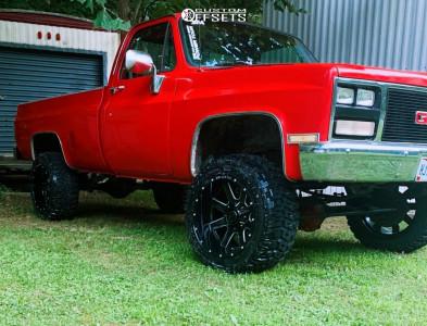 "1985 Chevrolet K20 - 20x12 -44mm - Ballistic Rage - Suspension Lift 4"" - 33"" x 12.5"""