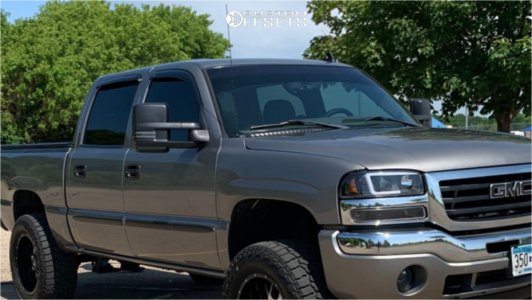 "2007 GMC Sierra 1500 Classic - 20x10 -24mm - Dropstars 645mb - Suspension Lift 6"" - 35"" x 12.5"""