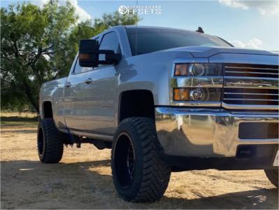 """2017 Chevrolet Silverado 2500 HD - 20x12 -51mm - ARKON OFF-ROAD Caesar - Suspension Lift 3.5"""" - 33"""" x 12.5"""""""