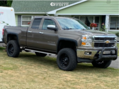 "2014 Chevrolet Silverado 1500 - 20x10 -24mm - Fuel Sledge - Suspension Lift 6"" - 35"" x 12.5"""