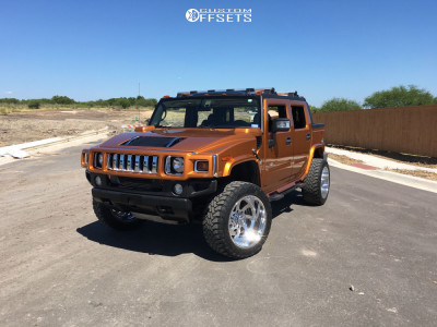 """2006 HUMMER H2 - 22x12 -40mm - American Force Blade Ss - Stock Suspension - 35"""" x 12.5"""""""