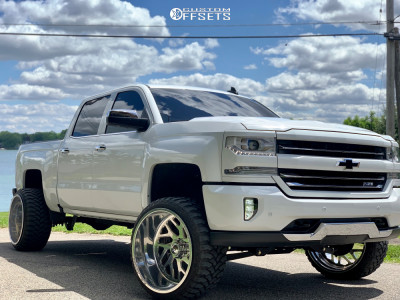 """2016 Chevrolet 1500 - 24x14 -76mm - Fuel Forged Ff29 - Suspension Lift 5"""" - 33"""" x 12.5"""""""