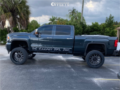 "2019 GMC Sierra 2500 HD - 24x12 -51mm - Vision Rocker - Suspension Lift 6"" - 325/45R24"