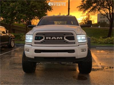 "2018 Dodge Ram 2500 - 22x12 -51mm - ARKON OFF-ROAD Crown Series Triumph - Suspension Lift 6"" - 37"" x 13.5"""