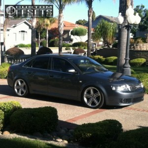 2004 Audi A4 - 19x9 32mm - Stock Peelers - Lowered on Springs - 255/35R19