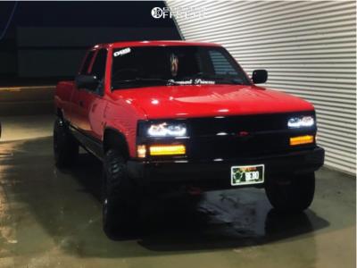 "1994 Chevrolet K1500 - 15x12 -49.3499mm - American Racing Baja - Stock Suspension - 32"" x 11.5"""